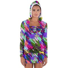 Tropical Jungle Print And Color Trends Women s Long Sleeve Hooded T-shirt