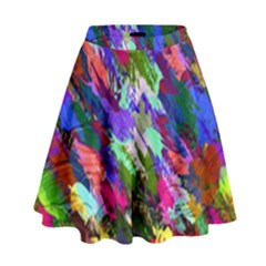 Tropical Jungle Print And Color Trends High Waist Skirt