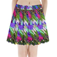 Tropical Jungle Print And Color Trends Pleated Mini Skirt