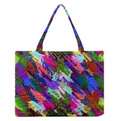Tropical Jungle Print And Color Trends Medium Zipper Tote Bag