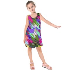 Tropical Jungle Print And Color Trends Kids  Sleeveless Dress
