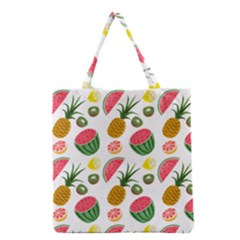 Fruits Pattern Grocery Tote Bag