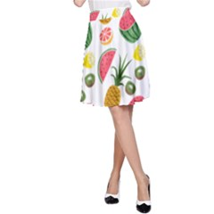 Fruits Pattern A Line Skirt