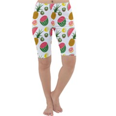 Fruits Pattern Cropped Leggings