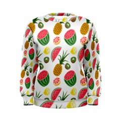 Fruits Pattern Women s Sweatshirt