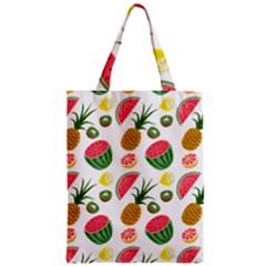 Fruits Pattern Zipper Classic Tote Bag
