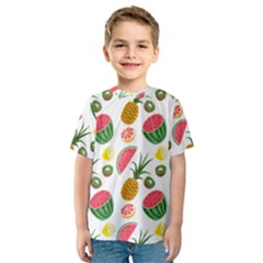 Fruits Pattern Kids  Sport Mesh Tee