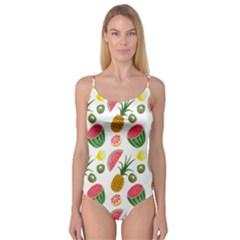Fruits Pattern Camisole Leotard