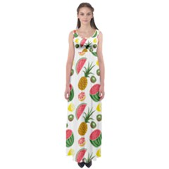Fruits Pattern Empire Waist Maxi Dress
