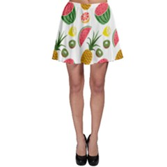 Fruits Pattern Skater Skirt