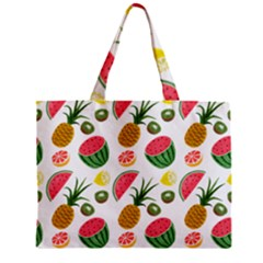 Fruits Pattern Zipper Mini Tote Bag