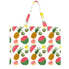 Fruits Pattern Zipper Large Tote Bag