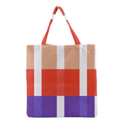 Compound Grid Grocery Tote Bag