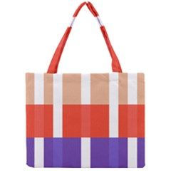 Compound Grid Mini Tote Bag