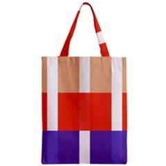 Compound Grid Zipper Classic Tote Bag