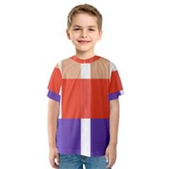 Compound Grid Kids  Sport Mesh Tee