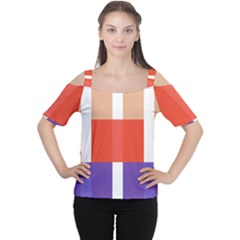 Compound Grid Women s Cutout Shoulder Tee