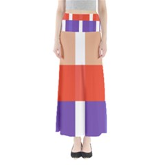 Compound Grid Maxi Skirts