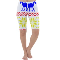 Jacquard With Elks Cropped Leggings