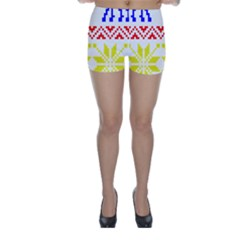 Jacquard With Elks Skinny Shorts