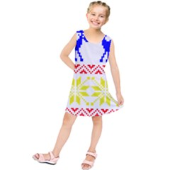 Jacquard With Elks Kids  Tunic Dress