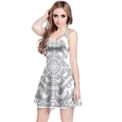 Mosaic Pattern Cyberscooty Museum Pattern Reversible Sleeveless Dress