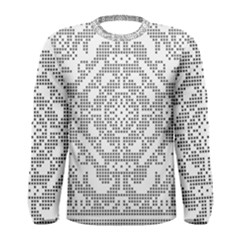 Mosaic Pattern Cyberscooty Museum Pattern Men s Long Sleeve Tee