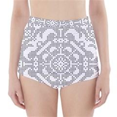 Mosaic Pattern Cyberscooty Museum Pattern High Waisted Bikini Bottoms