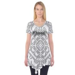 Mosaic Pattern Cyberscooty Museum Pattern Short Sleeve Tunic