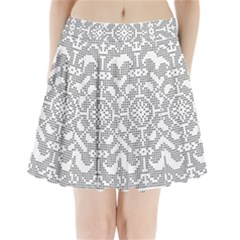 Mosaic Pattern Cyberscooty Museum Pattern Pleated Mini Skirt