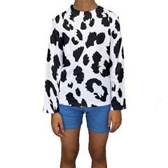 Leopard Skin Kids  Long Sleeve Swimwear