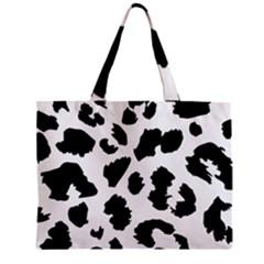Leopard Skin Zipper Mini Tote Bag