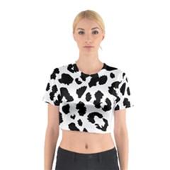 Leopard Skin Cotton Crop Top