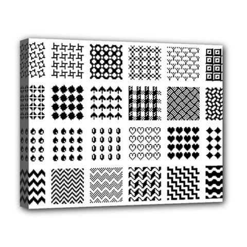 Retro Patterns Deluxe Canvas 20  x 16