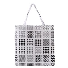 Retro Patterns Grocery Tote Bag