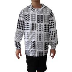 Retro Patterns Hooded Wind Breaker (kids)