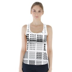 Retro Patterns Racer Back Sports Top