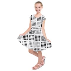 Retro Patterns Kids  Short Sleeve Dress