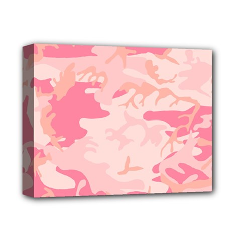 Pink Camo Print Deluxe Canvas 14  x 11
