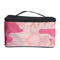 Pink Camo Print Cosmetic Storage Case