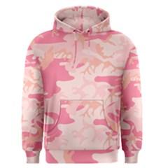 Pink Camo Print Men s Pullover Hoodie