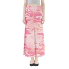 Pink Camo Print Maxi Skirts