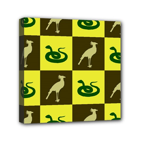 Bird And Snake Pattern Mini Canvas 6  x 6