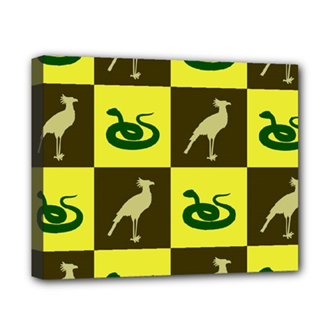 Bird And Snake Pattern Canvas 10  x 8