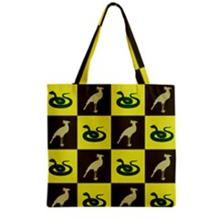 Bird And Snake Pattern Grocery Tote Bag