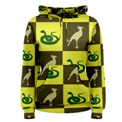 Bird And Snake Pattern Women s Pullover Hoodie