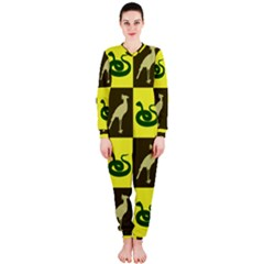Bird And Snake Pattern Onepiece Jumpsuit (ladies)