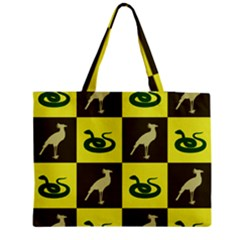 Bird And Snake Pattern Medium Tote Bag