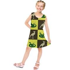 Bird And Snake Pattern Kids  Tunic Dress