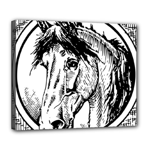 Framed Horse Deluxe Canvas 24  X 20